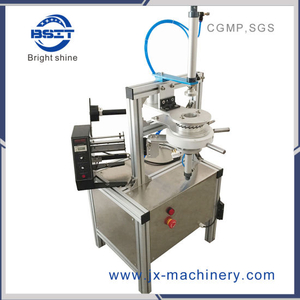 Blue Bubble Melt Dissolve Paper Pleated Wrapping Machine/ Toilet Cleaner Pleated Wrapper Packing Machine