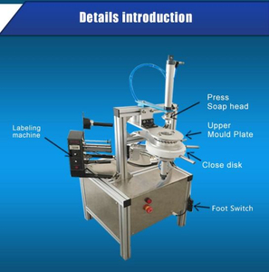 Pneumatic Plastic Blue Bubble Soap Paper Pleat Wrapping Packing Machine for Saveing Labor